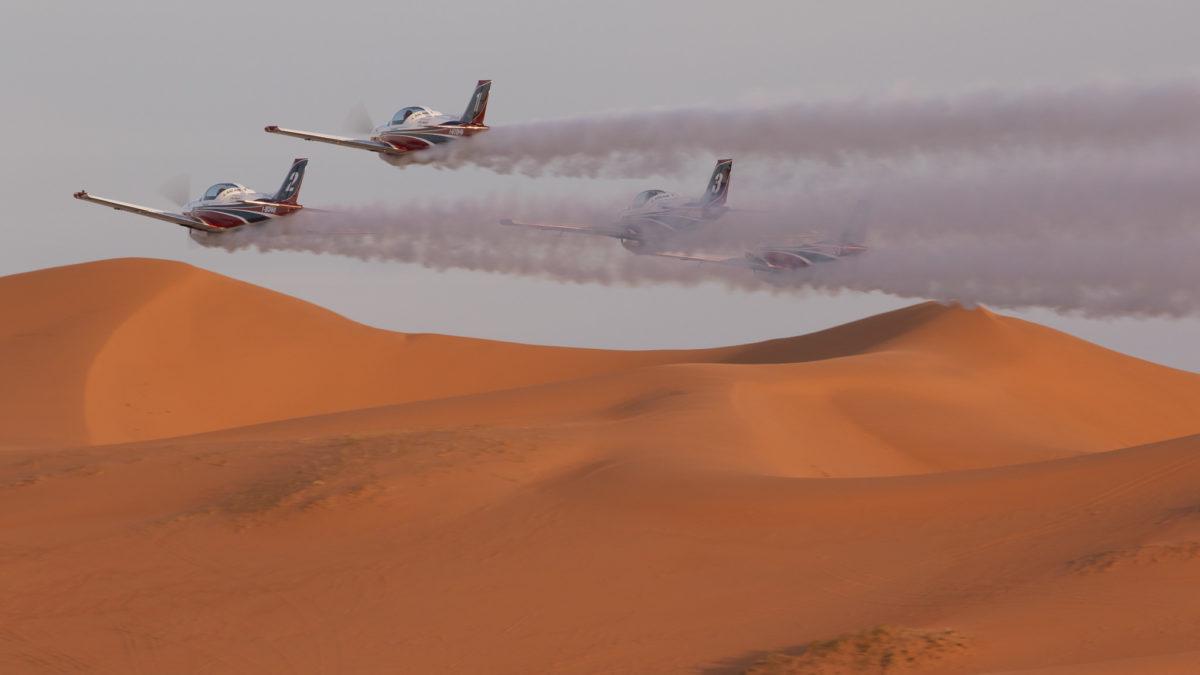 Deserto e cammelli.